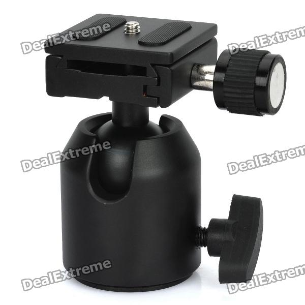 Magnesium Aluminum Alloy Ball Head w/ Quick Release Plate (Max. Load-8kg) ye 306 aluminium magnesium alloy ball head w quick release plate adapter black