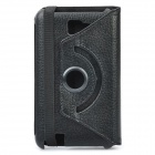 Protective 360 Degree Rotation Holder PU Leather Case for Samsung Galaxy Note i9220 - Black