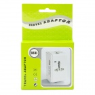 Universal Travel Power Plug Adapter con puerto USB - Blanco (EE.UU. / EU / UK / AUS)