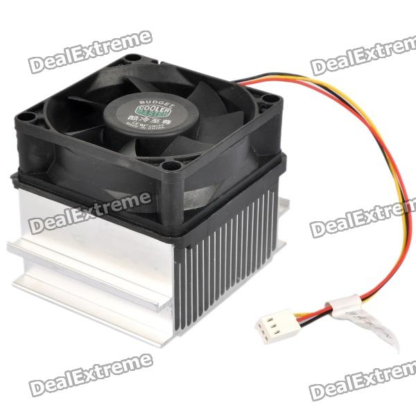 CoolerMaster A73 Professional CPU Heatsink Cooler Cooling Fan - Black + Silver del 60mm pc cpu cooling fan 12v 3 pin computer case cooler quiet molex connector mar09