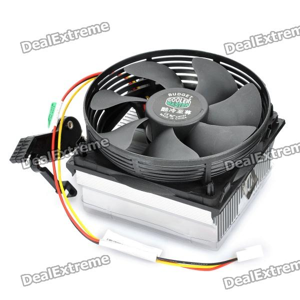 Professional Computer Heatsink with Cooling Fan - Black + Silver от DX.com INT