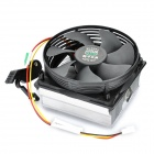 Professional Computer Heatsink with Cooling Fan - Black + Silver