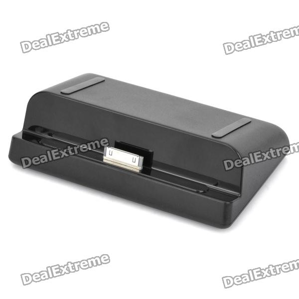 USB Charging Dock Station w/ Data / Charging Cable for Samsung Galaxy Tab P7510 / P7500 - Black usb charging docking station w data cable for google nexus 7 black