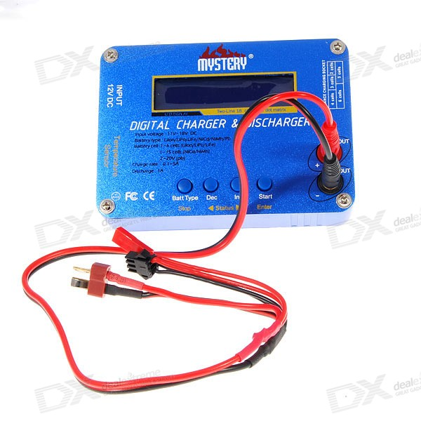 Mystery LCD Digital Balance Charger and Discharger (1~6 Cell Lithium / 1~15 Cell NiCD/NiMH)
