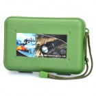 Waterproof Plastic Box w/ Strap for flashlight - Army Green (M-size)