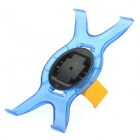 Protective 360 Degree Rotation Holder Stand for iPad / iPad 2 / New iPad - Translucent Blue