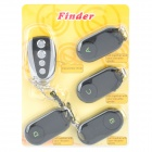 1-to-4 Key Finder Keychain Transmitter + Receiver Set (Use CR2032 Battery)