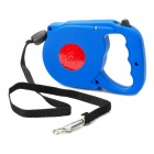 Retractable Leading Dog Leash with Plastic Shell - Blue (5M)