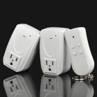 1000W Dual Remote Control Electrical Switches (AC 125V / 2-Flat-1-Round-Pin Plug)