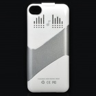 Rechargeable 1800mAh External Battery Back Case with Speaker for iPhone 4 / 4S - White