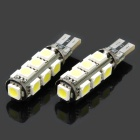 T10 1.56W 6000~6500K 16~18-Lumen 13x5050 SMD LED White Light Lamps (Pair / DC 12V)