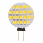 G4 1.2W 3000~3500K 5~6-Lumen 24-SMD LED Warm White Light Lamp (DC 12V)