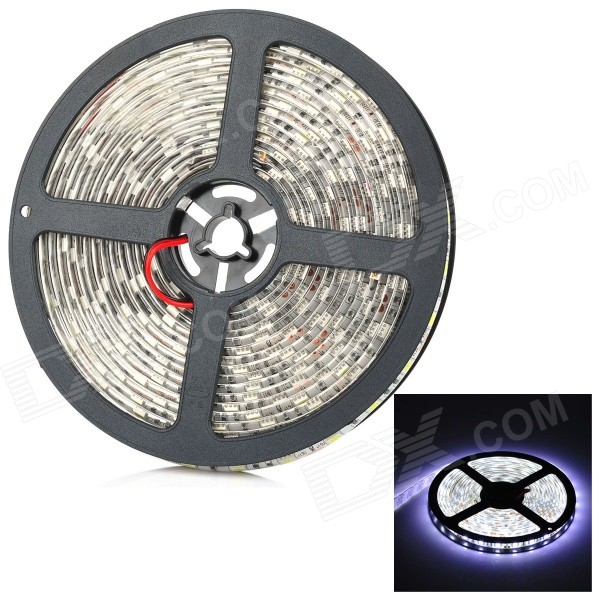 72W 10LM Cold White 300*SMD LED Cuttable Light Strip (5m / DC 12V)