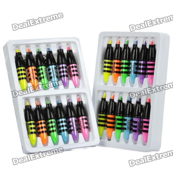 Cute Mini Honey Bee Style Fluorescent Marker pens w/ Chain (24-Pack) 6 frames reversible honey extractor for bee keeping