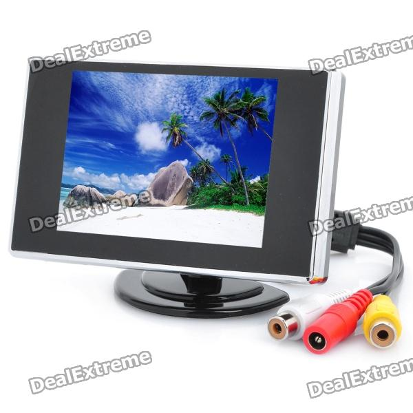 3.5 LCD Visual Reversing / Vehicles Reverse Camera Monitor (NTSC/PAL DC12V) y 2 1 7 tft lcd car reversing rearview monitor w 2 ch video input remote control black