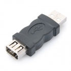 USB Male to 1394 6-Pin Female Adapter - Black