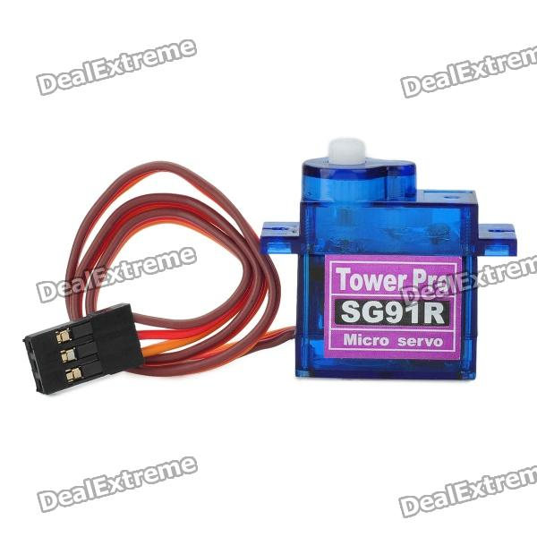 TowerPro TPSG91R 9g Mini Plastic Gear Steering Servo (4.8V) tower pro sg92r 9g servo motor with 2 5kg torque for diy project
