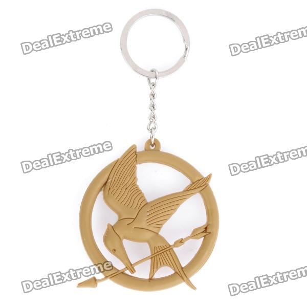 Silicone the hunger games mockingjay style pendant keychain yellow silicone the hunger games mockingjay style pendant keychain yellow aloadofball Images