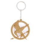 Silicone The Hunger Games Mockingjay Style Pendant Keychain - Yellow
