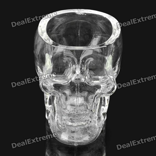 Crystal Skull Style Glass Wine Cup - Transparent
