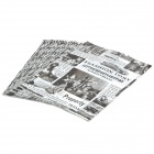 Retro-Muster PE Newspaper Bag - Black + White (45 x 35cm / 45-Pack)