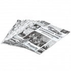 Retro-Muster PE Newspaper Bag - Black + White (40 x 30cm / 45-Pack)
