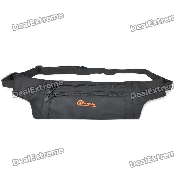 Anti-Theft Canvas Waist Bag - Black