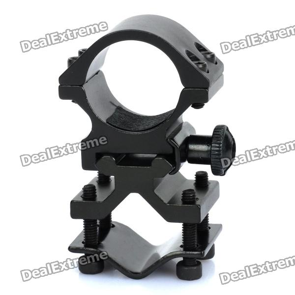 все цены на  Heavy Duty Gun Mount Holder Clip Clamp for Flashlight - Black  в интернете