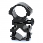 Heavy Duty Gun Mount Holder Clip Clamp for Flashlight - Black