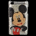 Shining Acrylic Diamond Mickey Mouse Pattern Protective Plastic Back Case for iPod Touch 4