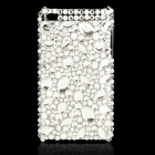 Stylish Acrylic Diamond Protective Plastic Back Case for Ipod Touch 4 - White