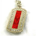 USB LED Necklace Badge (Dog-Tag style)