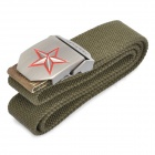 Taktische robustem Canvas Gürtel w / sternförmig Alloy Buckle - Army Green