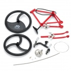 Educational DIY Assembly Racing Bicycle Bike Model - Red + Black
