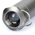 Telescopic 3W 100-110LM 3-Mode White LED Flashlight Camping Light with Clip - Iron Grey (3 x AAA)
