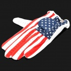 Stilvolle USA Flag Pattern Golf linkshändigen Handschuh - Rot + Blau + Weiß (L-Size)