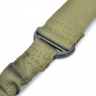 Táctica Militar Rifle Gun Single Point Sling Strap - Ejército Verde (135 cm)