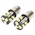 1157 / BA15D 3.8W 6500K 266-Lumen 19-5050 SMD LED White Light Car Lamps (DC 12V / Pair)