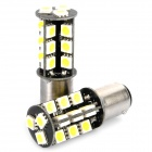 1142 / S23 5.5W 6500K 378-Lumen 27-5050 SMD LED White Light Car Lamps (DC 12V / Pair)
