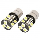 1156 / BA15A 3.8W 6500K 266-Lumen 19-5050 SMD LED White Light Car Lamps (DC 12V / Pair)