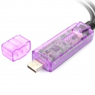 EasyCAP 1-CH USB Audio / Video Capture Dongle - Transparent Purple