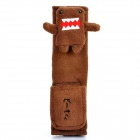 Cute Domo-Kun Style Car Seat Belt Cover - Coffee
