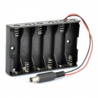 6 x AA Batteries Holder with DC2.1 Power Jack for Arduino (Works with Official Arduino Boards)