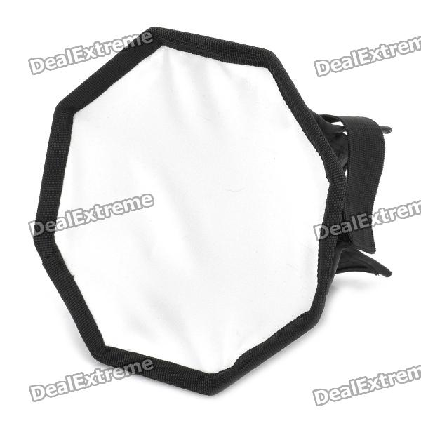 Octangle Folding Speedlight Flash Soft Box - Black + Silver (S-Size)