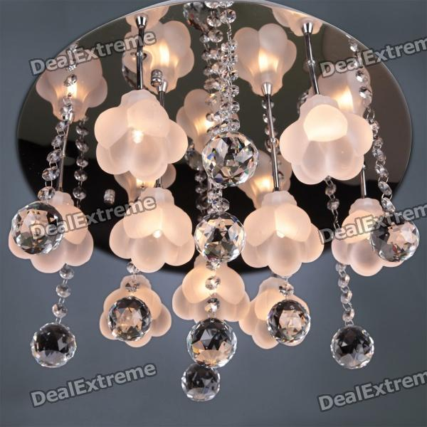 Iron and Crystal 9-light Chandelier (110-120V)