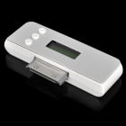 "Mini 0.8"" LCD FM Transmitter for iPhone 4 - Silver"