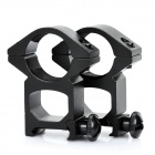 Heavy Duty Gun Mount Holder Clip Clamp for Flashlight (25mm / Pair)