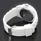 Stylish Wrist Watch with Love Heart Pattern - White