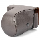 Protective Crazy Horse Leather Case for Sony NEX-7 - Brown