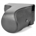 Protective Crazy Horse Leather Case for Sony NEX-7 - Black